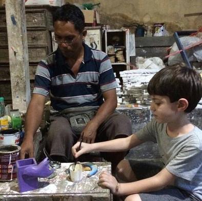 חנות JAVA כיכר רבין אומנים ציירים צלליות