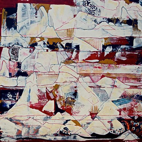 Abstract- Snowy Mountain- Art