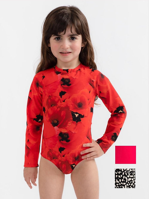 Mini Long sleeves one piece swimsuit for baby