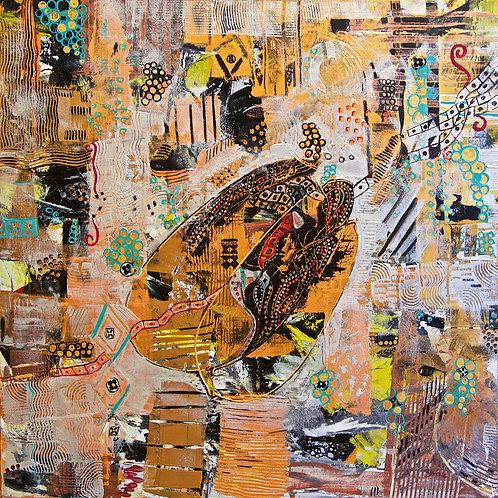 Abstract- Black Golden Art