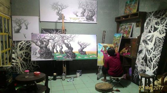 ציורים TOTOK KATIRIN SAMTO עצי זית