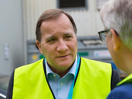 ביקור ראש ממשלת שבדיה במפעל של חברת פליגט