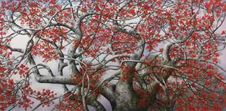 ציור עצי זית. SAMTO תערוכה חוצות היוצר 2