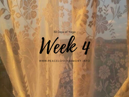 A Review of 30 Days of Yoga//Week 4