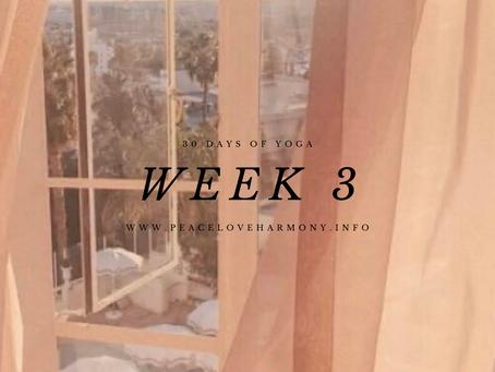 30 Days of Yoga//Week 3