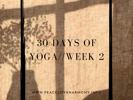 A Review of 30 Days of Yoga//Week 2
