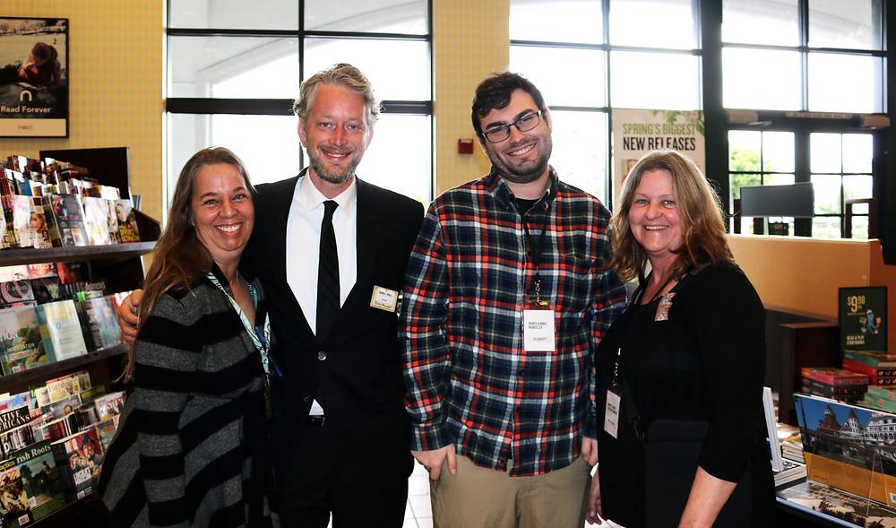 (Laura, Brad, Robert and Mary Anna at the Mira Mesa Barnes & Noble)