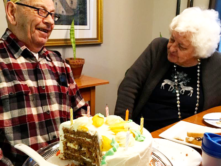 Happy 90th Birthday to Toward Maximum Independence Client Everett!