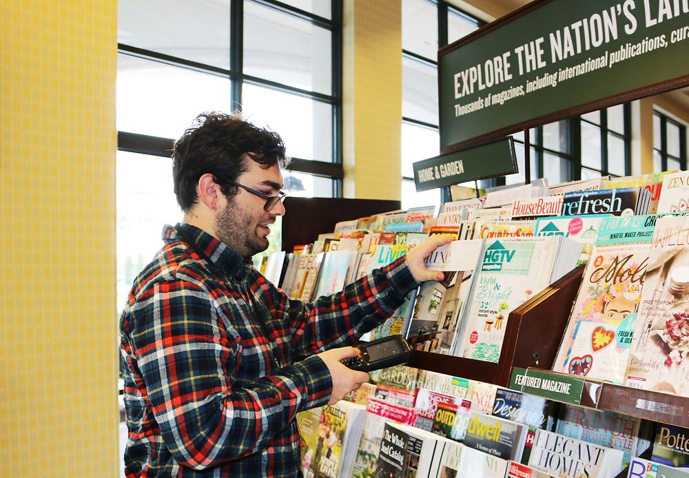 Robert working at Barnes & Noble