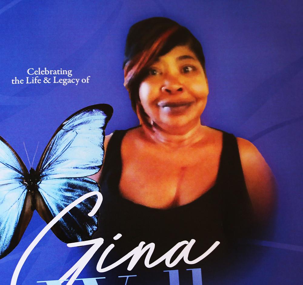 Gina's memorial photo