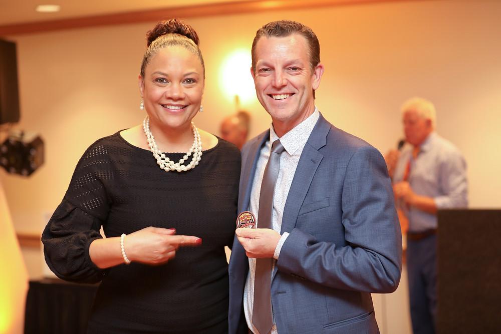 Rachel with TMI Board Chair Bryan Shull at a TMI Gala.