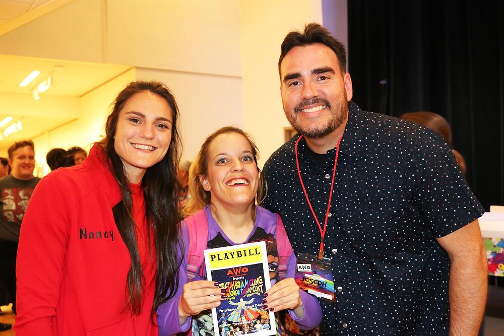 Christina with Nancy and Chris Rubio.