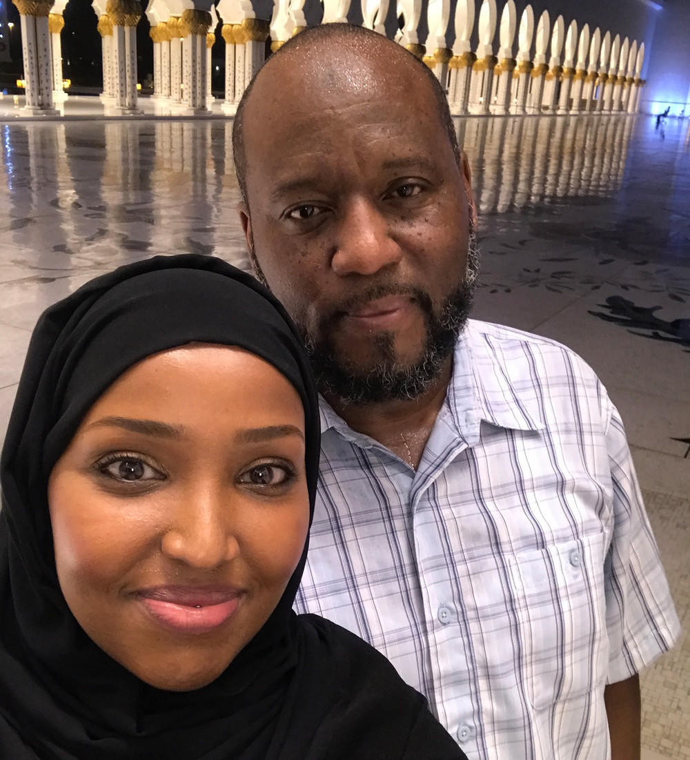 Marcus and his wife, Ghinah, in Dubai