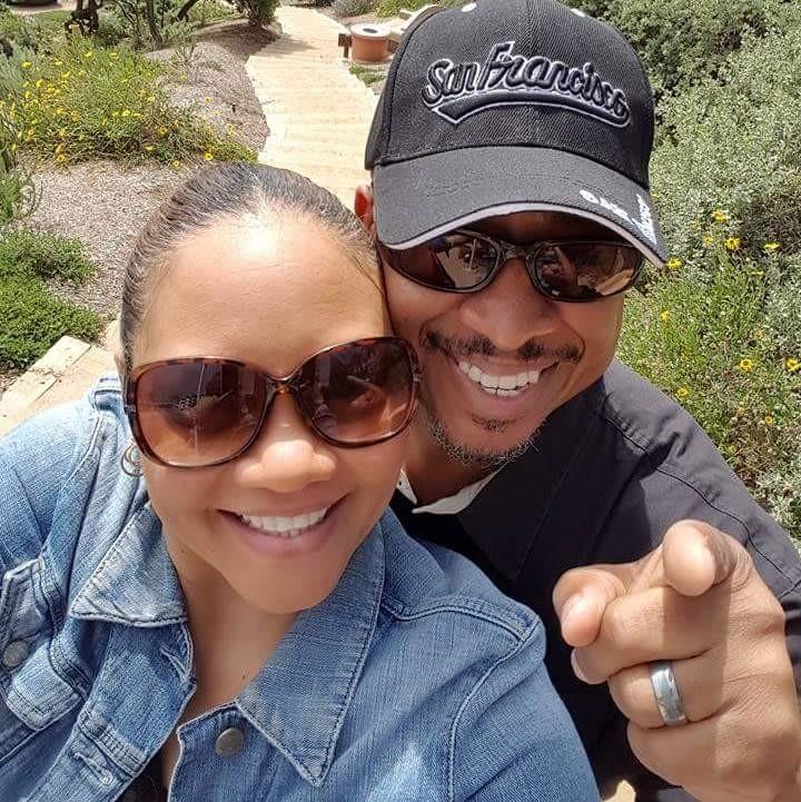 Rachel and her husband Olando Harris.