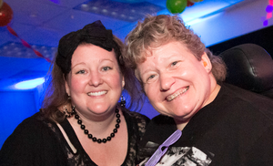 TMI Community Outreach & Resource Specialist Melinda Lara with Patti at CONNECT's Spring Fling Dance)