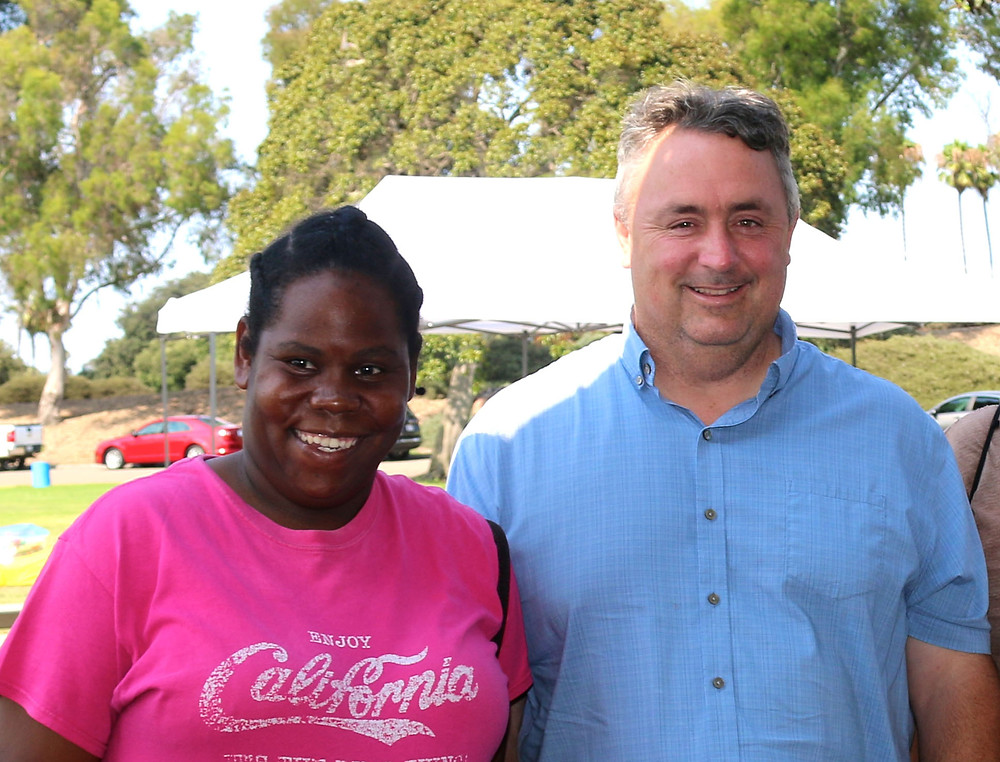 Andy with his client Felisha at the TMI annual picnic.