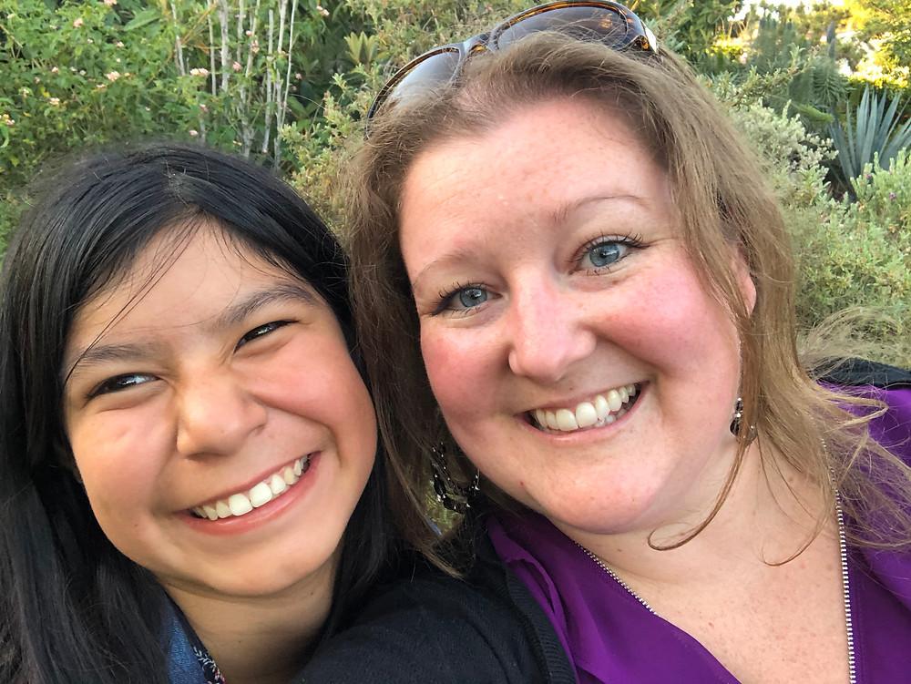 Melinda with her oldest daughter.