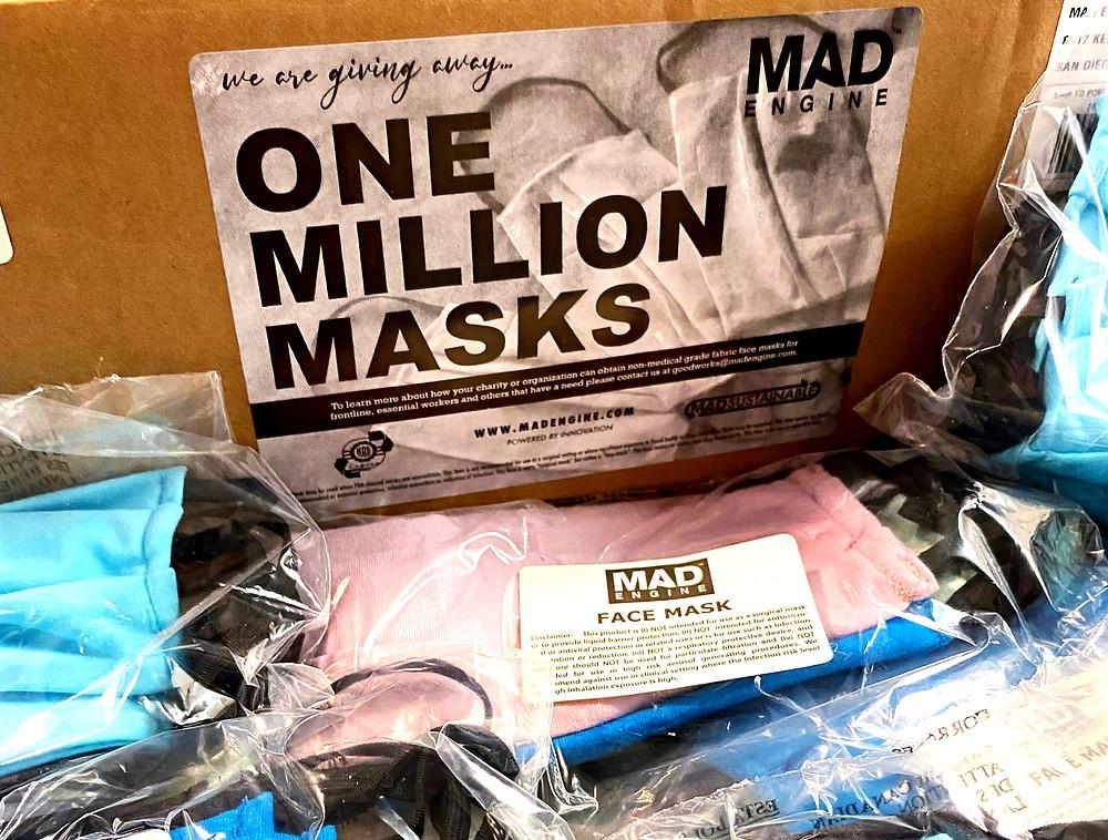 Mad Engine face masks