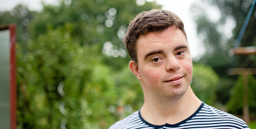 Young man with down syndrome