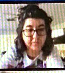 Kym attending her first TMI Board meeting via Zoom.