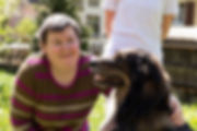 Women with a disability with a dog