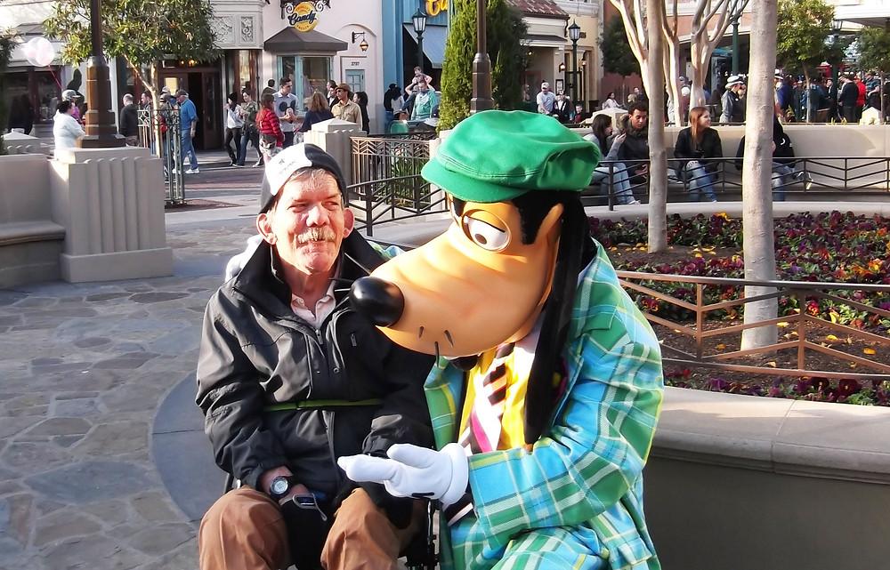 Darrel having fun at Disneyland.