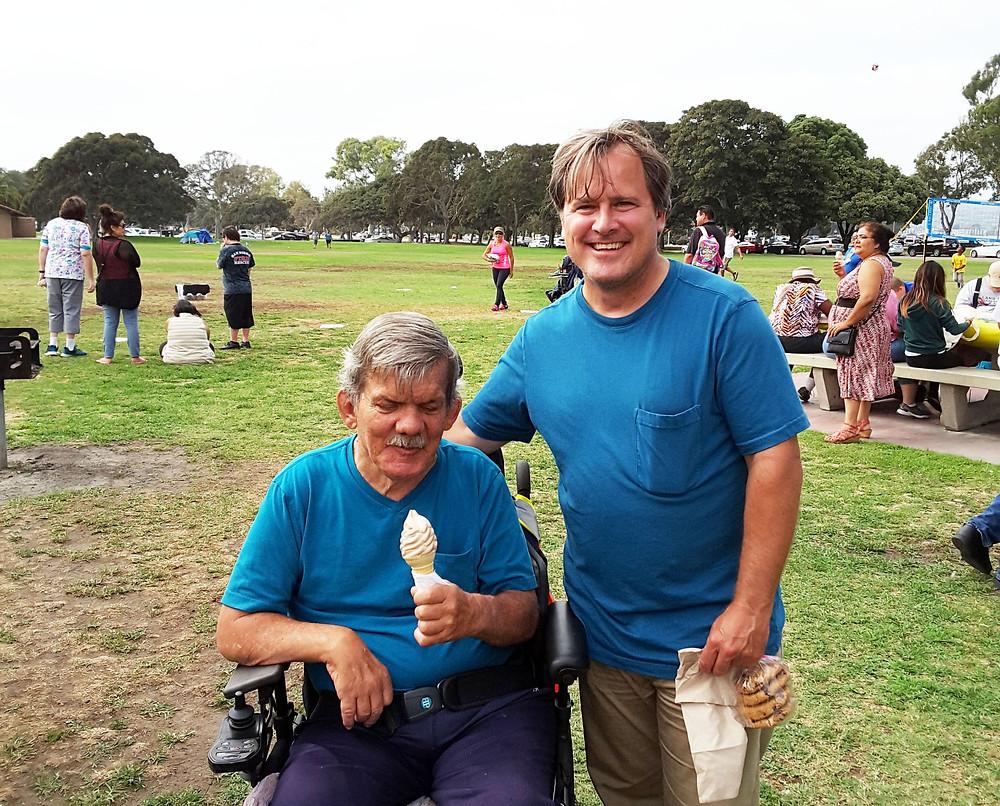 Darrel and Tom at a TMI summer picnic.