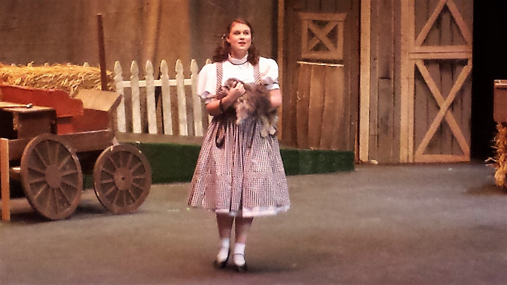 Heather Performing as Dorothy in the Wizard of Oz