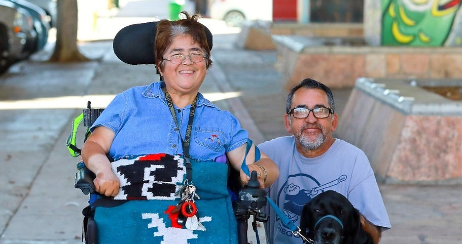 Couple with disabilities