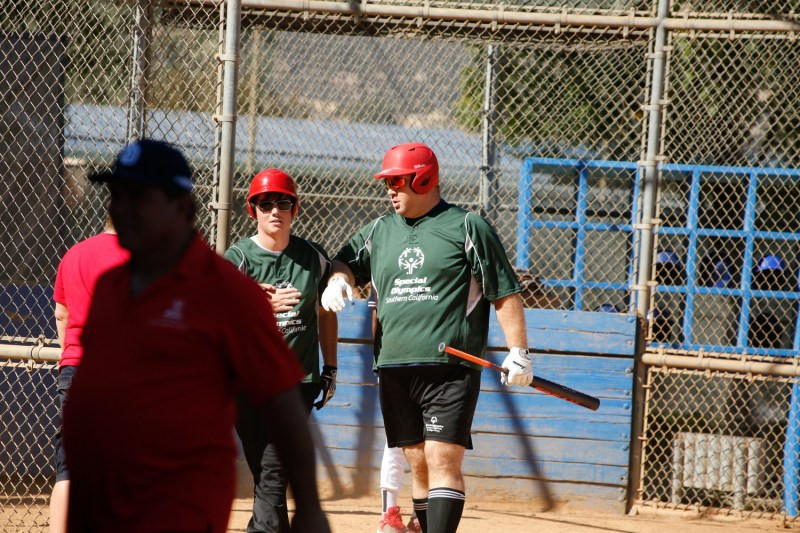 Sam doing what he loves (photo courtesy of the Special Olympics)