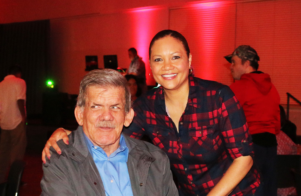 Darrel with TMI Executive Director Rachel Harris at our holiday party.