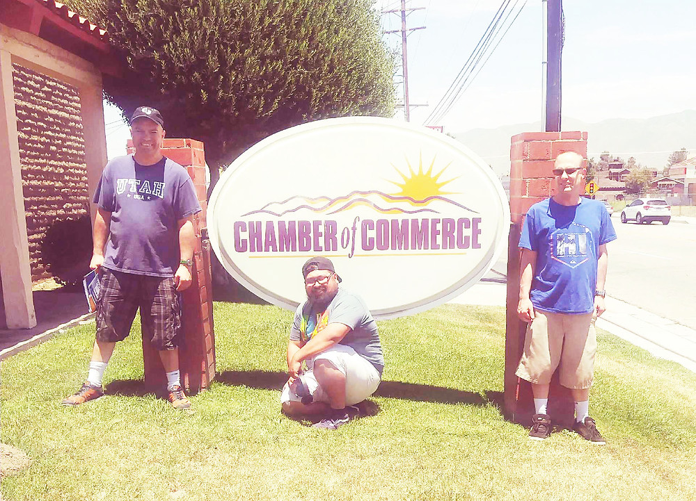 Harry Christopher and Andrew at the Hemet Chamber of Commerce.