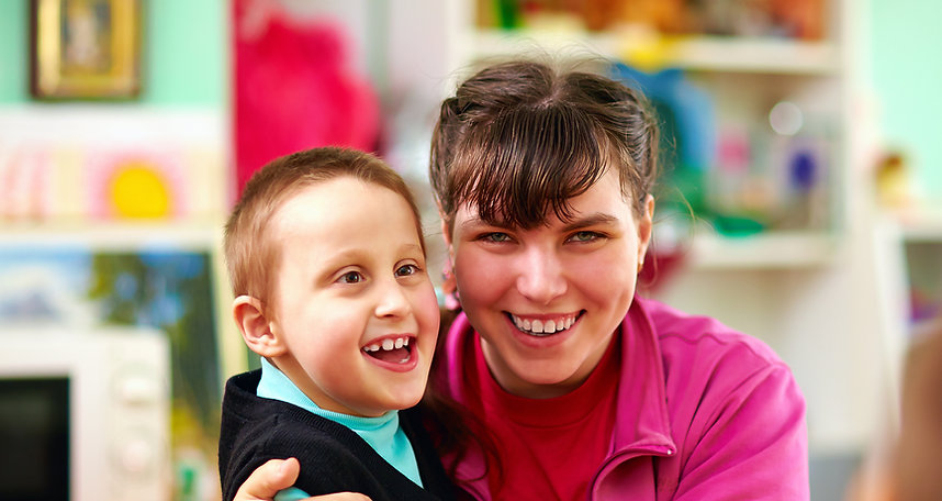 Cheerful Kids With Disabilities In Rehab
