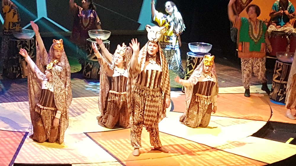 Heather Performing as Nala in the Lion King