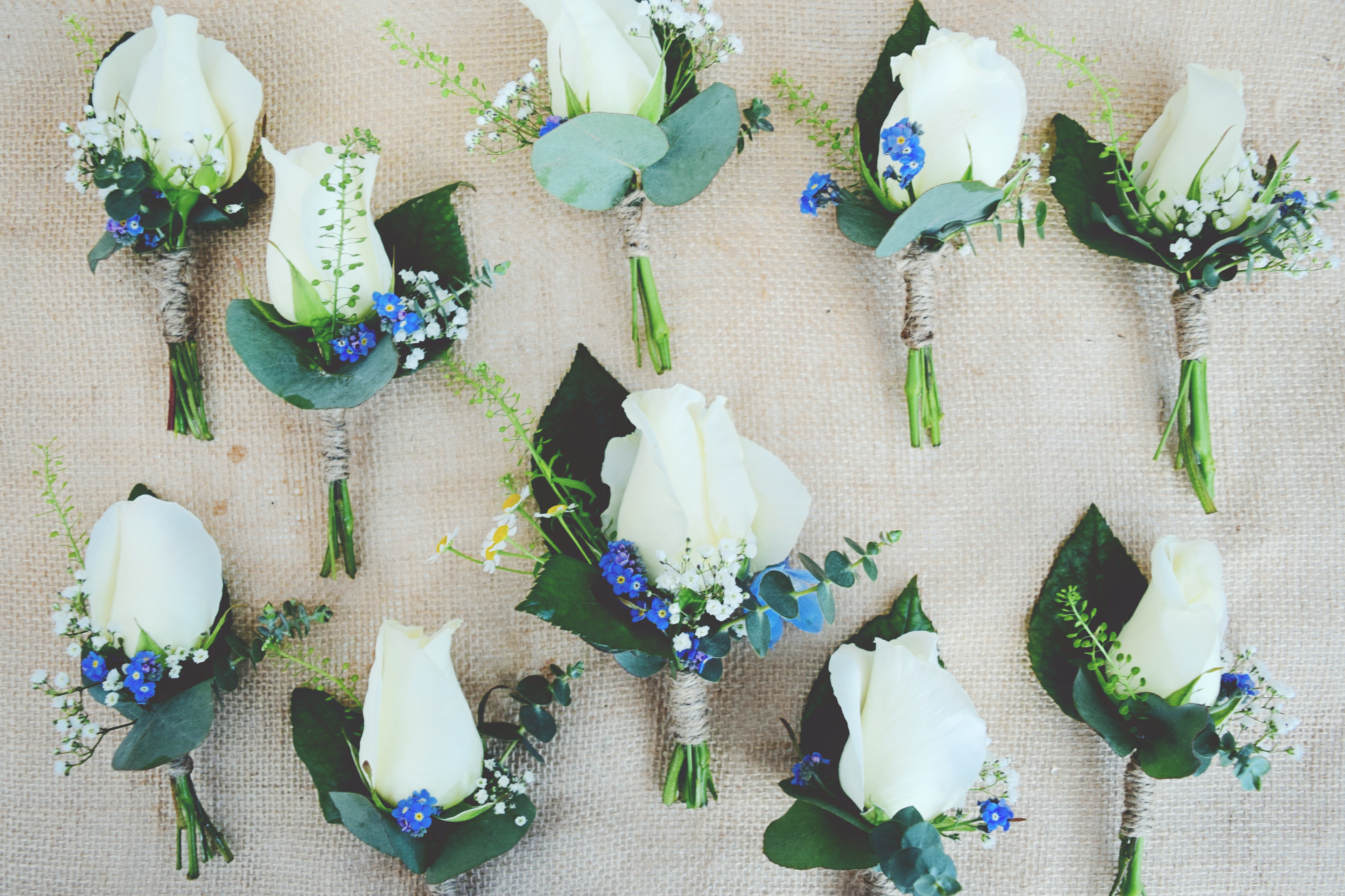 blue buttonhol