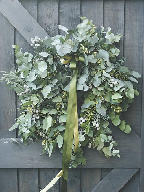 Silver Eucalitus Wreath