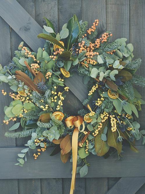 Holly Orange Wreath