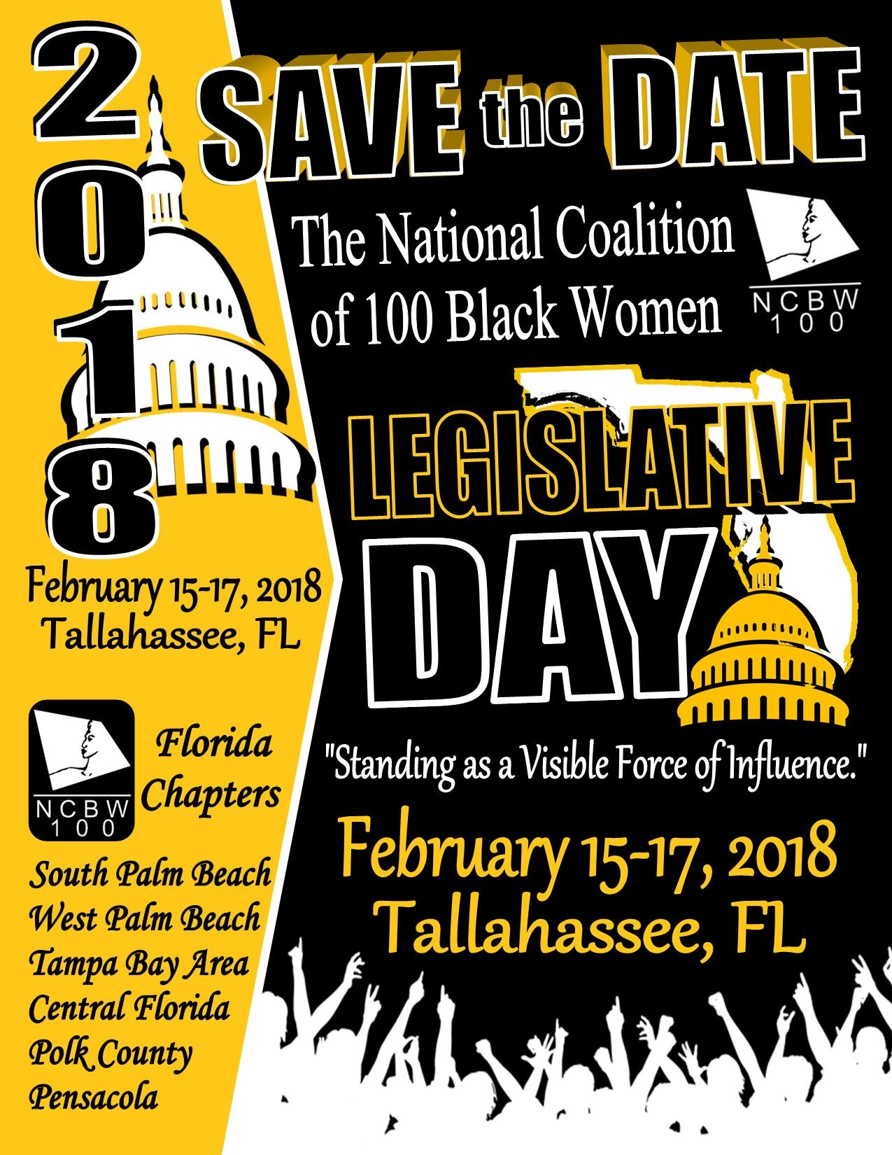 NC100BW - 2018 Legislative Days (Save the Date Flyer)