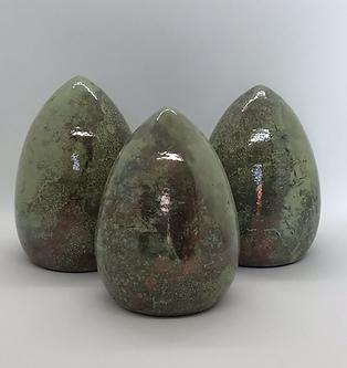 Raku Eggs-Set of 3
