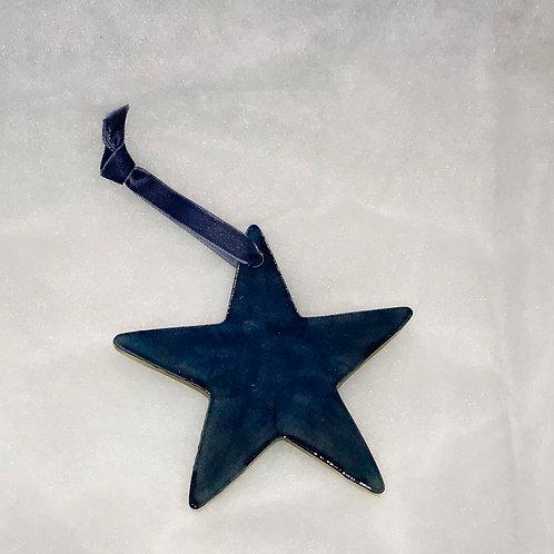Raku Star Ornament