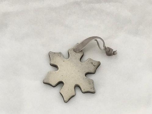 Raku Snowflake Ornament