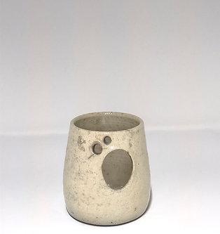 Raku Ghost Candle Holder-Small