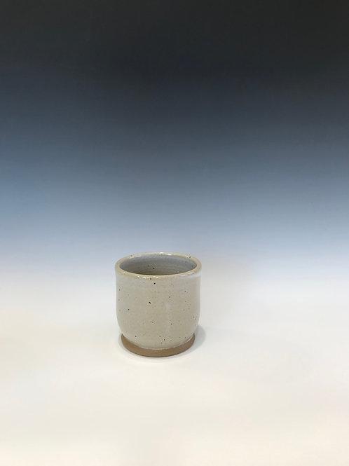 Stoneware Starter Pot/Planter-Snow Goose White Glaze