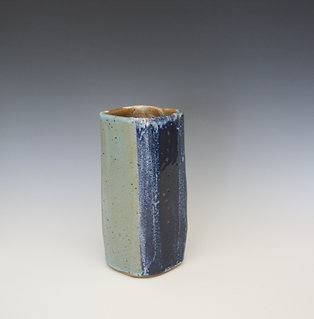 Squared Stoneware Vase
