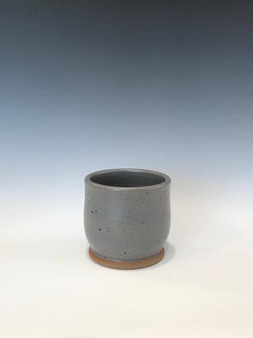 Stoneware Succulent Starter Pot-Gray Glaze