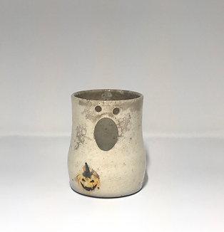 Raku Ghost Candle Holder