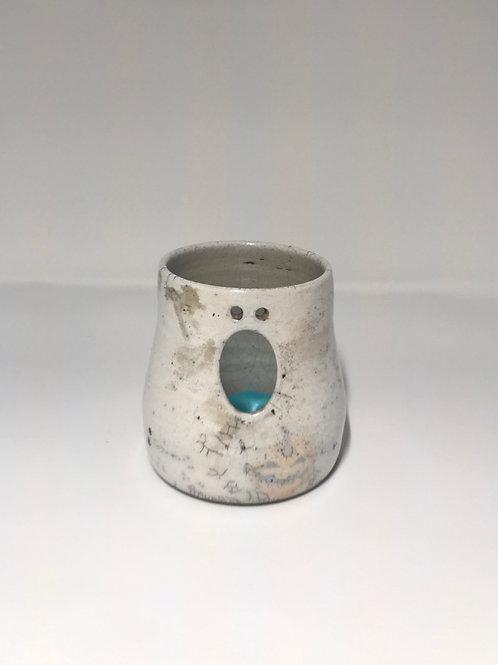 Raku Ghost Candle Holder-Large