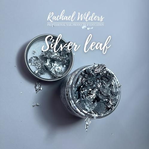 Jar of silver leaf/foil