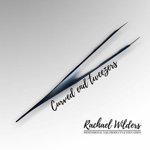 Curved end nail tweezers