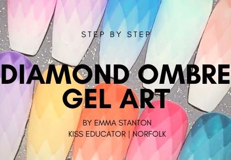 Step by step for a diamond ombré gel design
